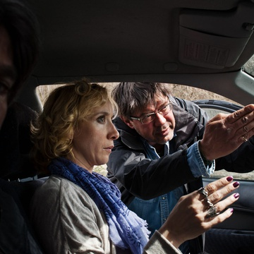 Senad Bašić, Mojca Funkl, Miroslav Mandić on the set of Adria Blues (2013).