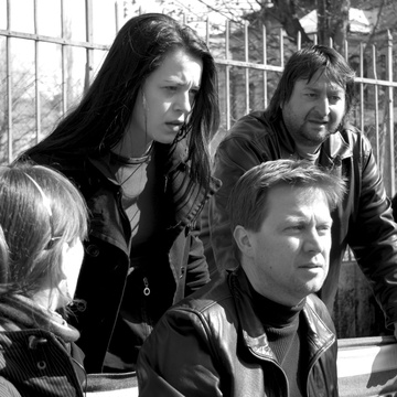 Aleš Belak, Nina Ivanišin, Damjan Kozole on the set of Slovenka (2009).