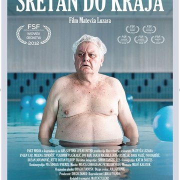 The poster for Srečen za umret (2012).