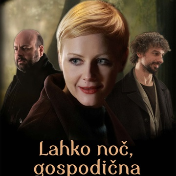 The poster for Lahko noč, gospodična (2011). In this photo:  Jan Cvitkovič, Polona Juh, Jernej Šugman