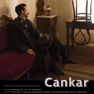 The poster for Cankar (2018). In this photo:  Rok Vihar